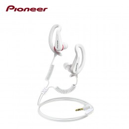 Pioneer SE-E721-W Fully Enclosed Sports Earphones - White